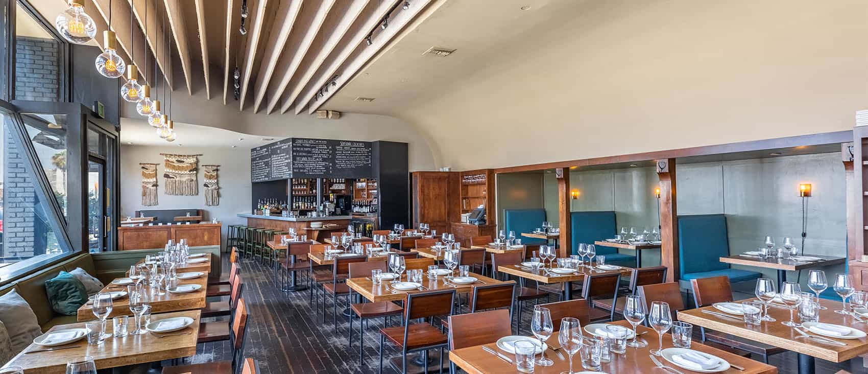 View of Main Dining Room at Rustic Canyon